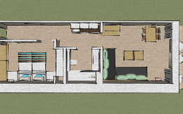 Plan Apartment 1 bedroom Bloc Mediterraneo - A1P